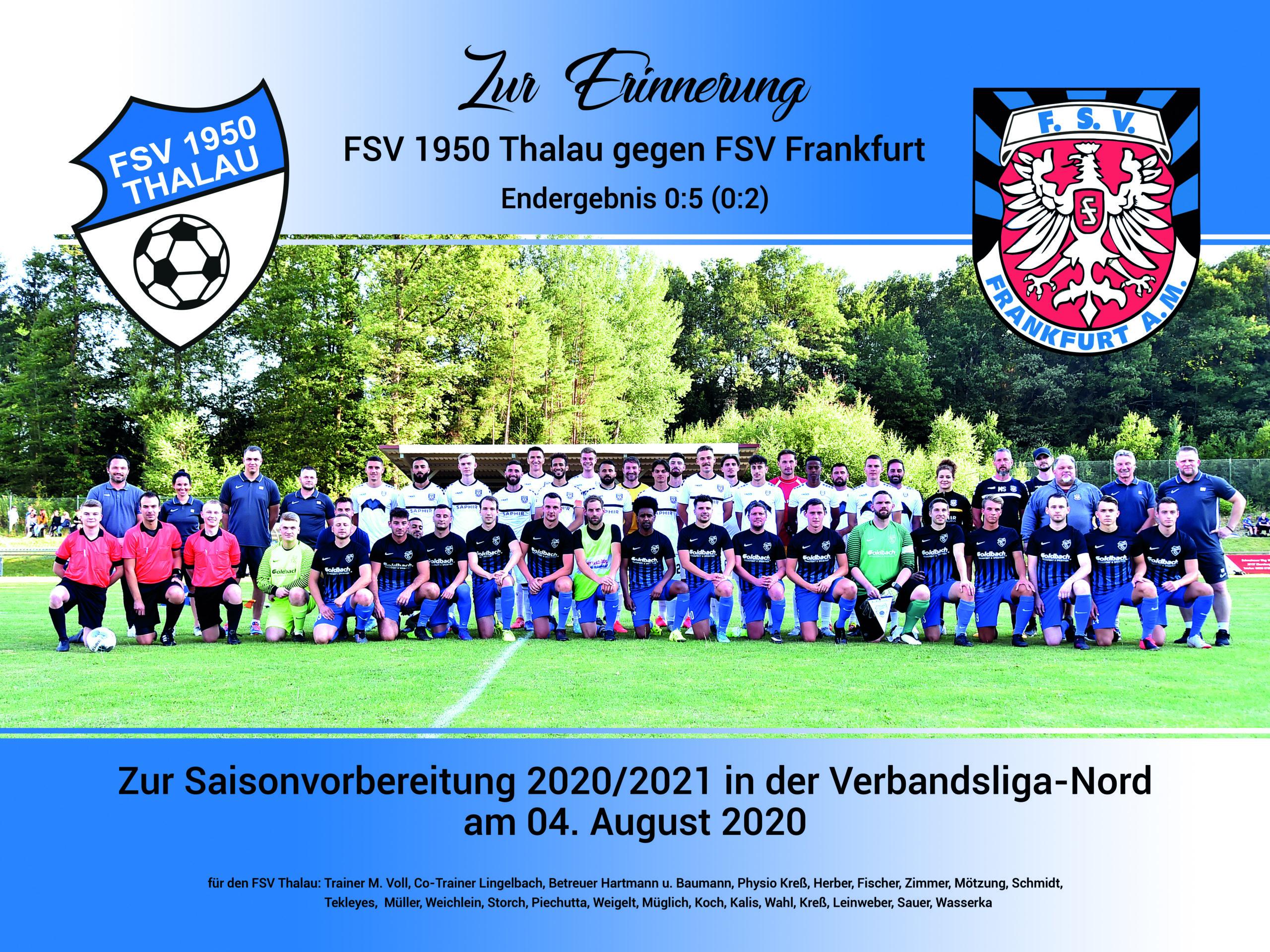 Fußball 2020-2021/Testspiele2020-2021 - Hier: FSV Thalau (blau) - FSV Frankfurt (weiss)